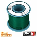 CABO UNIFILAR 0.5mm VERDE (ROLO 25m)