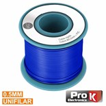 CABO UNIFILAR 0.5mm AZUL (ROLO 25m)