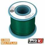 Cabo multifilar verde 0.5mm rolo 25mts